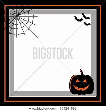 Frame for halloween with vector icons