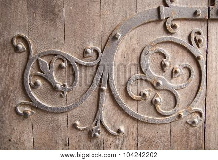 Old church door detail. Background