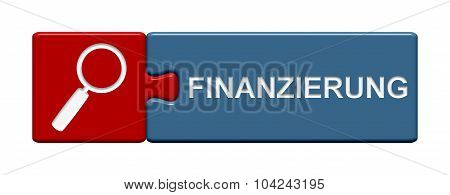 Puzzle Button Showing Finance In German