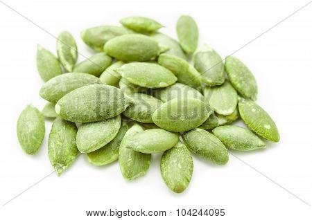Dried Green Pumpkin Seeds.