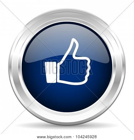 like cirle glossy dark blue web icon on white background
