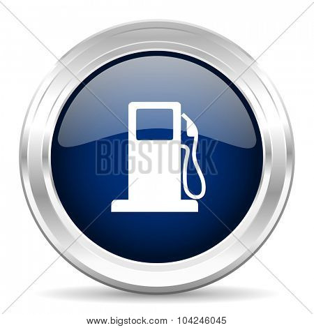 petrol cirle glossy dark blue web icon on white background