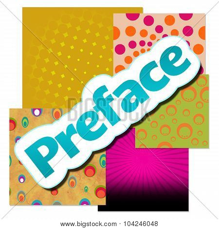 Preface Various Colorful Background