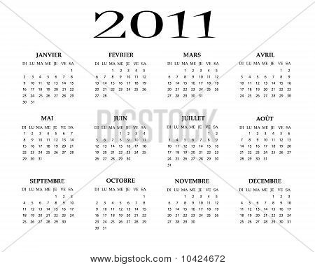 French Calendar 2011