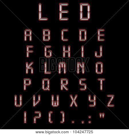 Led Alphabet Burgundy