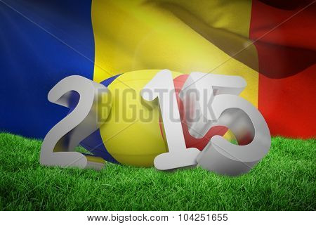 Romania rugby 2015 message against waving flag of romania
