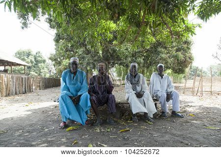 African Village Chief And Elders Council