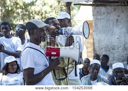 African Ngo Activists Delivering A Public Lesson