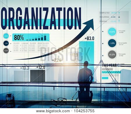 Organization Management Network Corporate Connection Concept