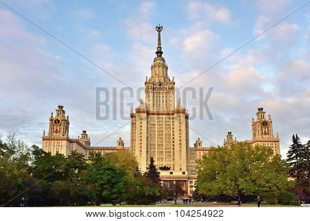 Main Building Of Moscow State University, Moscow, Russia