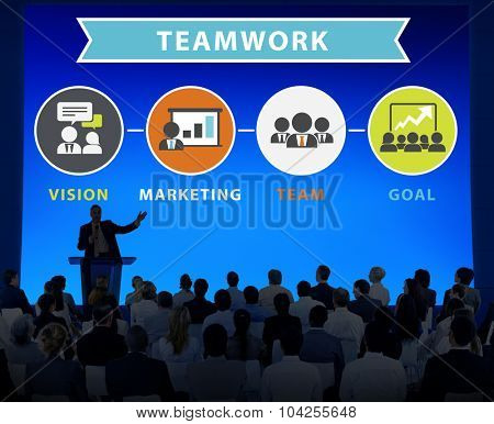 Business People Seminar Conference Connection Teamwork Concept