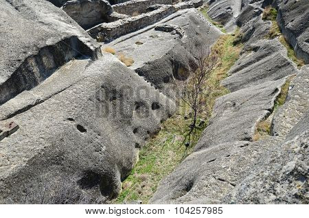 Relief Of Cave City Uplistsikhe In Caucasus Region, Georgia.