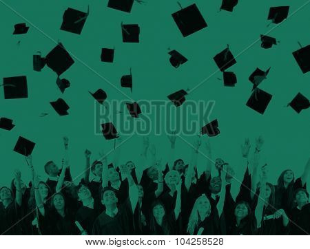 Graduation University Teenagers Students Success Concept