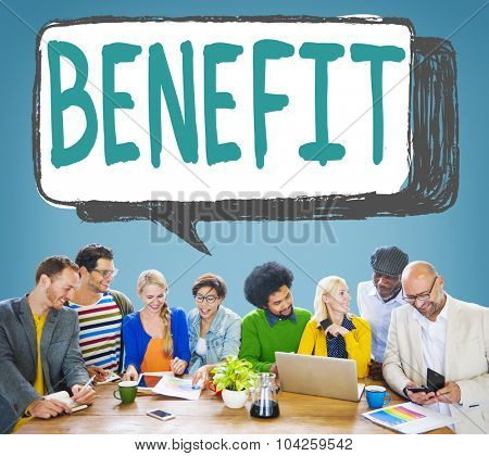 Benefit Charity Income Profit Value Wages Welfare Concept