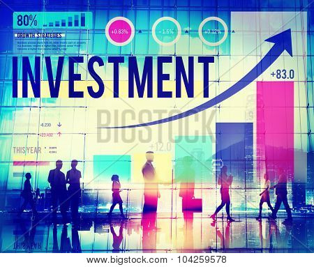 Investment Business Growth Launch Success Concept