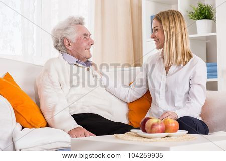 Daughter Visiting Her Father