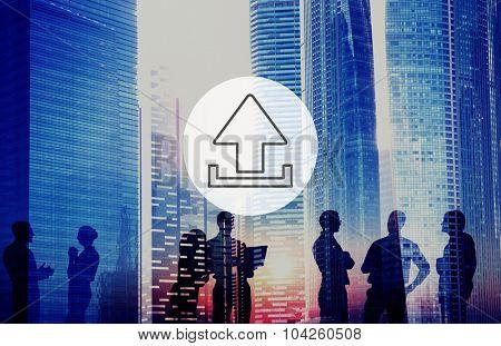 Upload Digital Computing Transfer Storage Internet Concept