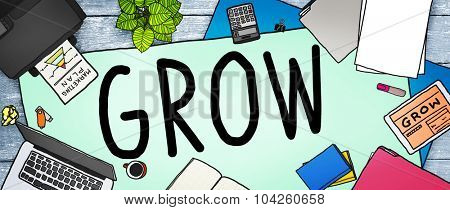Grow Improvement Process Increase Aspiration Concept