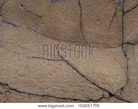 rock covered with cracks