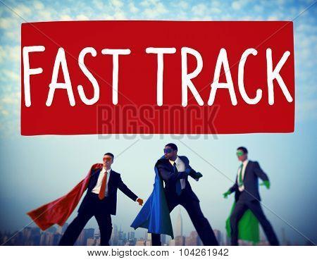 Fast Track Increase Improvement Development Raising Concept
