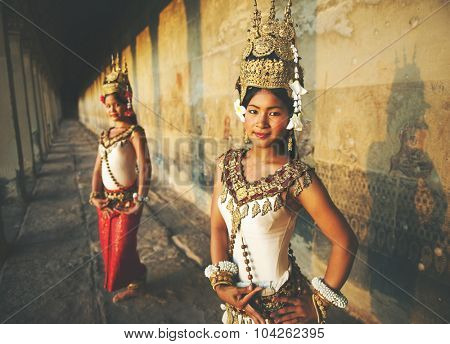 Traditional Aspara Dancers Siem Reap Concept