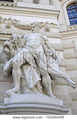 Hercules And Cerberus, Hofburg Palace, Vienna, Austria