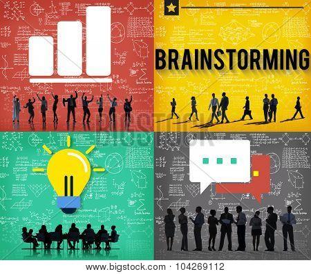 Brainstorming Discussion Ideas Corporate Concept