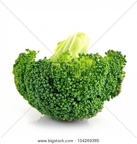 Fresh broccoli isolated on white