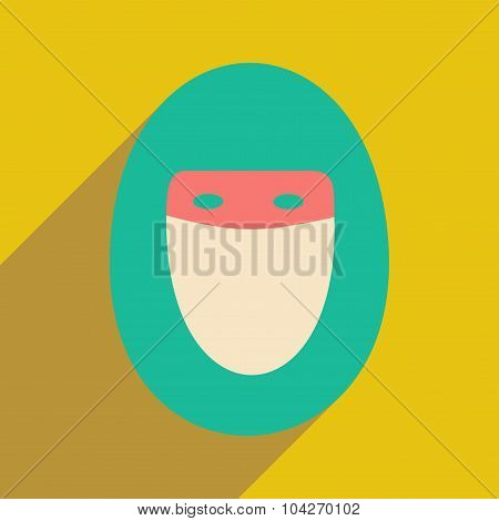 Flat with shadow icon and mobile application hijab