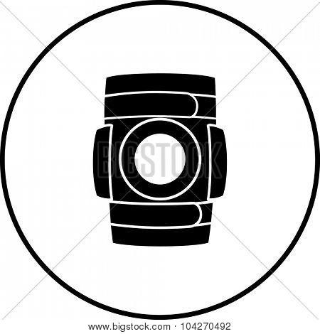 knee brace symbol