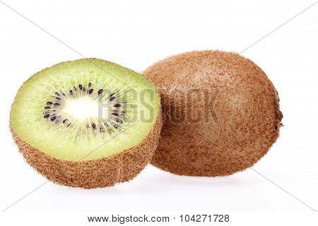 Fruits Of  Kiwi Isolated On White Background