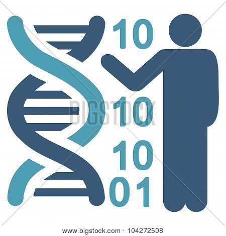 Dna Code Report Flat Icon