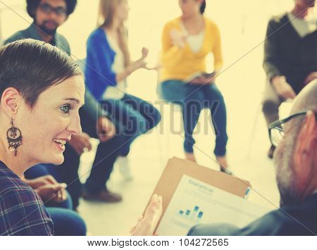 Diverse People Meeting Discussion Corporate Team Concept