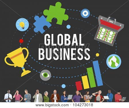 Global Business Start Up Launch Teamwork Online Concept