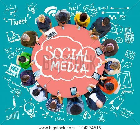 Social Media Global Communication Technology Connection Concept
