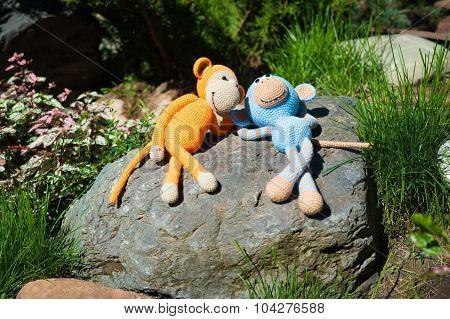 Soft Toys - Two Toy Monkeys