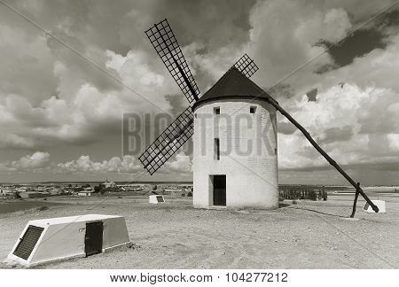 Windmill In Tembleque, Ciudad Real Province, Castilla La Mancha, Spain