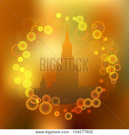 Kremlin. Moscow. Blurred Banner Design. Stock Vector