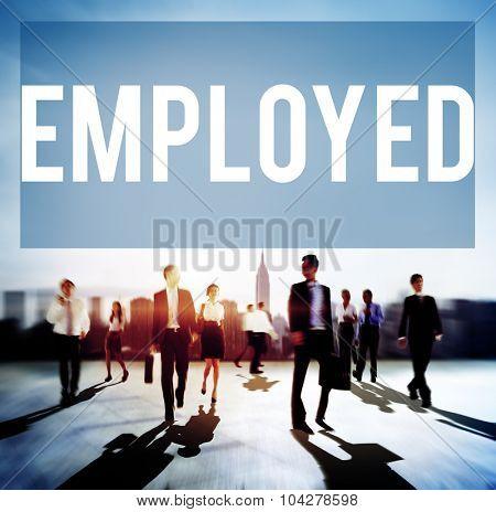Employed Recruitment Human Resources Hiring Concept