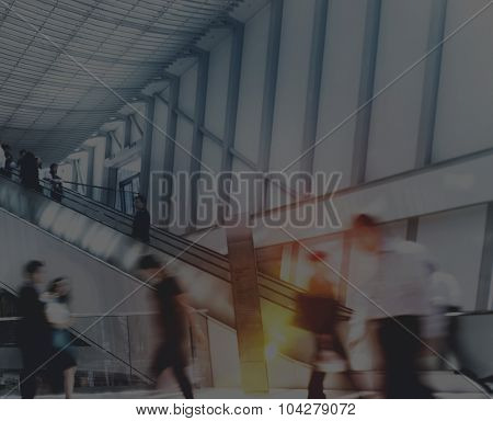 Business People in Asia Hong Kong Commuter Concept
