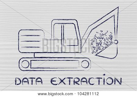 Data Extraction: Funny Digger Collecting Binary Code