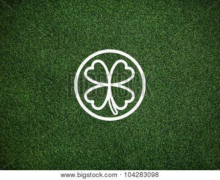 Green Clover Leaf Environmental Inspiration Concept
