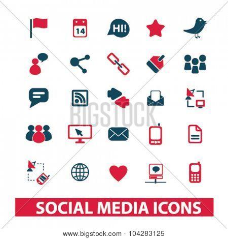 social media, blog icons