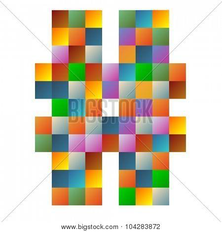Sharp letter rainbow colorful sparkling vector illustration