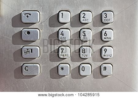 Keypad Buttons On A Public Phone