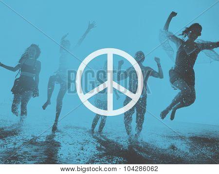 Peaceful Liberty Protest Symbol Gradient Concept