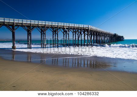 Pier Winding Into The Pacific Ocean