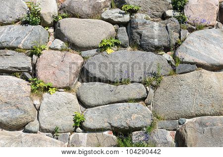 Large Boulders Wall Background