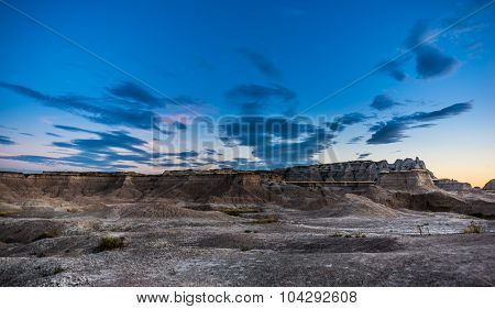 Badlands National Park South Dakota After Sunset Medicine Root Trail