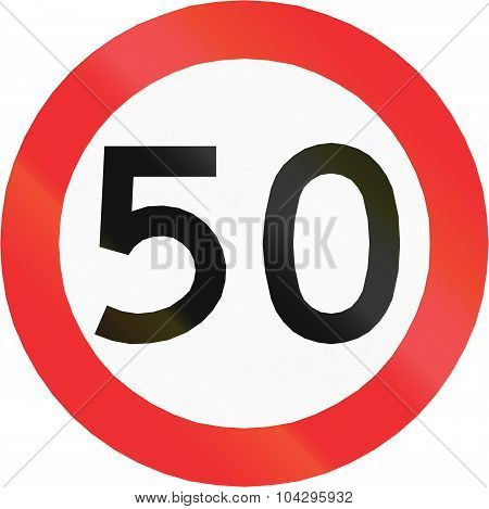 Speed Limit 50 In Chile